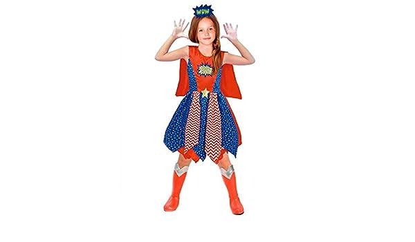 Disfraz Heroína Supergirl niña infantil para Carnaval 10-12 años ...