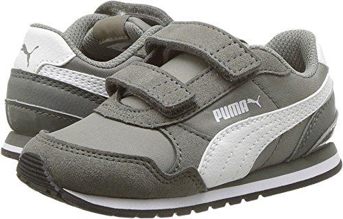 PUMA Baby ST Runner NL Velcro Kids Sneaker, Rock Ridge White, 5 M US Toddler