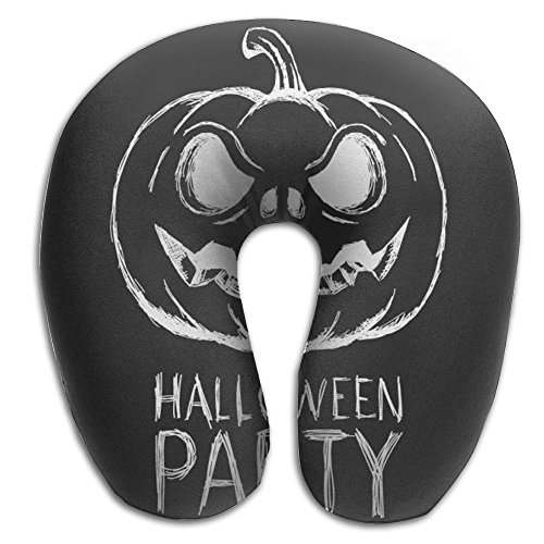 Halloween Party Black And White Poster Travel Pillow - Supports The (Happy Halloween Memes)