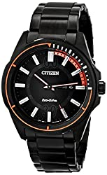 Citizen Eco-Drive Men's AW0038-53E Drive from Citizen HTM Analog Display Black Watch