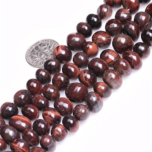(8x12mm Freeform Potato Red Tiger Eye Beads Strand 15 Inch Jewelry Making Beads)