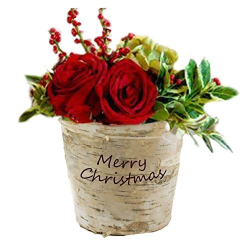 Personalized Custom Engraved Birch Pot Perfect for Christmas Gift or Holiday Centerpiece -