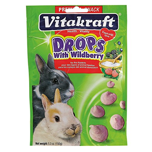 Vitakraft Rabbit Drops with Wild Berries Treat, 5.3 Ounce Pouch