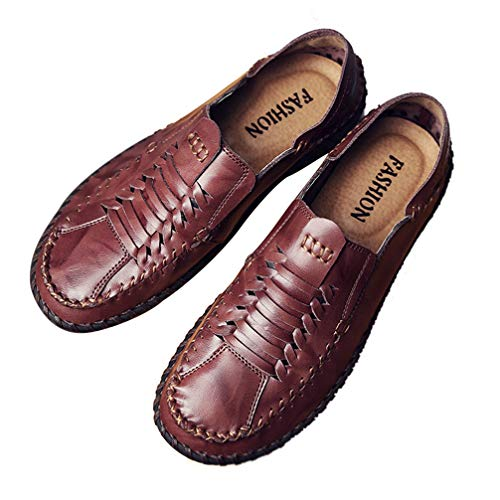 (Phil Betty Mens Loafers Shoes Breathable Comfortable Round-Toe Flat Casual Shoes)