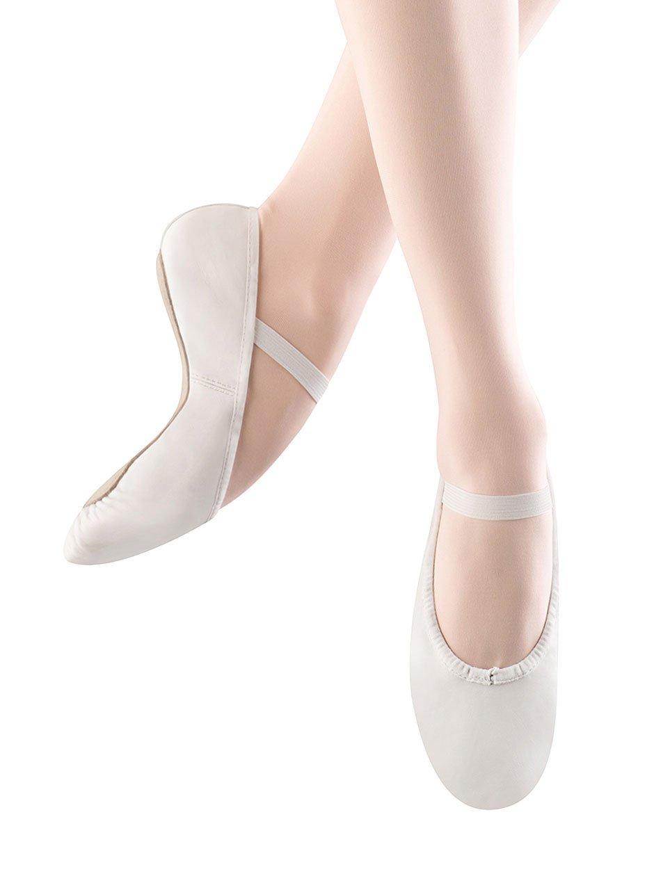 Bloch Dance Women's Dansoft Full Sole Leather Ballet Slipper/Shoe B0041HYJZK 3.5 B US|White