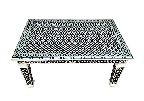 """Bone Inlay Hand Crafted 36"""" Rectangle Coffee Table"""