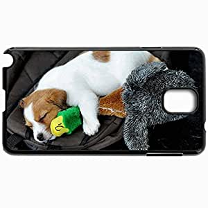 Personalized Protective Hardshell Back Hardcover For Samsung Note 3, Dog Design In Black Case Color