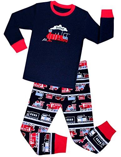 Boys Pajamas Train Little Kids Pjs 100% Cotton Toddler Sleepwears Size 2T