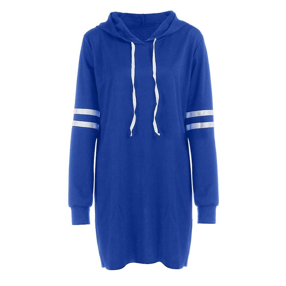 a36401d1837bd KUDICO Kapuzenkleid Damen Mode Langarm Hoodie Lange Sweatshirt Jumper  Pullover Kleid Blusen Kleider Blusenkleid: Amazon.de: Bekleidung