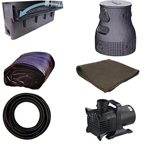 15 x 20 Large Pondless Waterfall Kit With Anjon 6,100 GPH Hybrid Mag Drive Pump, Savio 31