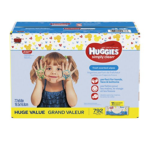 HUGGIES Simply Clean Wipes Unscented