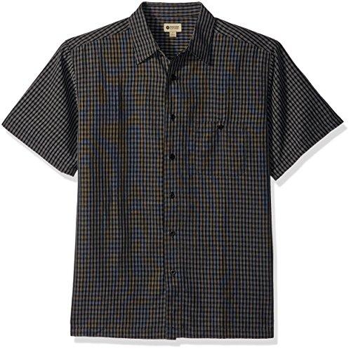 Haggar Mens Short Sleeve Sueded Effect Microfiber Woven Shirt