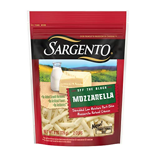 (Sargento Shredded Mozzarella Cheese - Traditional Cut, perfect for Italian classics like pizza and lasagna,  8 oz)