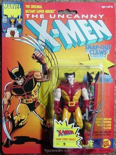 (Toy Biz The Uncanny X-Men Wolverine (with Snap Out Claws) Action Figure 4.75 Inches)