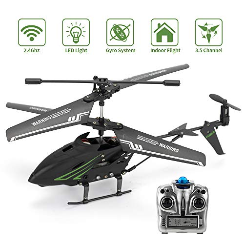 ROTOBAND RC Helicopter, Remote Control Helicopter with Gyro 3.5Hz Channel Mini Alloy Remote Helicopter Toys Gifts for Kids and Adults