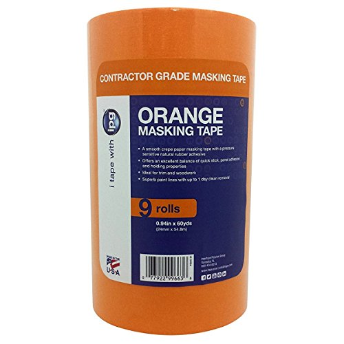 Intertape PG505 Orange Painters Masking Tape - 0.94 in x 60y by Intertape