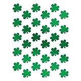 "Shamrockin' St. Patrick's Day Party Metallic Shamrock Stickers , Green, Paper , 6"" x 4 1/2"", Pack of 3"