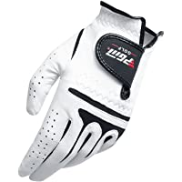 VORCOOL Golf Gloves Men Left Hand Synthetic and Cabretta Leather Golf Gloves Size 27
