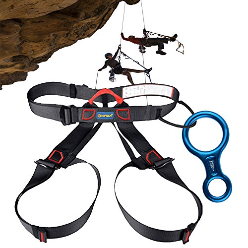 Climbing Harness Figure 8 Descender Rigging Plate AYAMAYA Half Body Seat Belts Guide Protector Rescue For Rope Rock