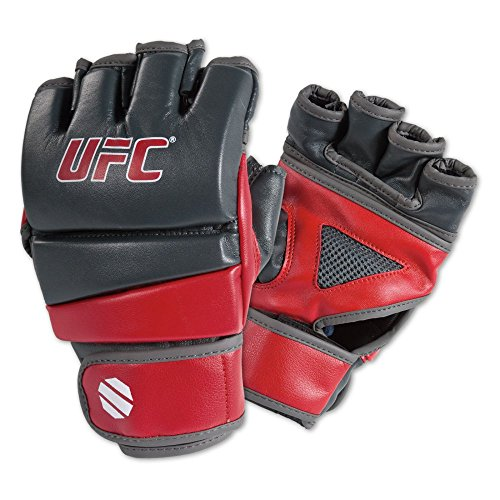 MMA Practice Gloves, Gray/Red, Small/Medium