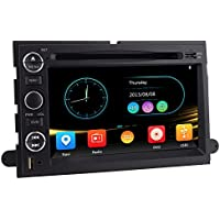 Sunny Road AS-3010 In-Dash Radio/DVD/GPS Navigation Head Unit with Rear View Camera Replacement for Select Ford Cars