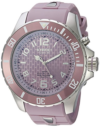 KYBOE! 'Power' Quartz Stainless Steel and Silicone Casual Watch, Color:Purple (Model: SC.55-007.15)