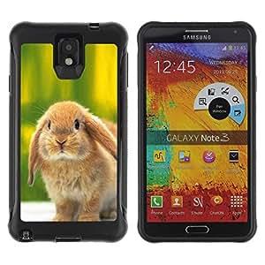 Suave TPU GEL Carcasa Funda Silicona Blando Estuche Caso de protección (para) Samsung Note 3 / CECELL Phone case / / Cute Bunny Rabbit /