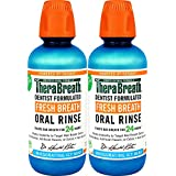 TheraBreath Fresh Breath, 24 Hour Dentist Formulated Oral Rinse, Icy Mint, 16 Fl Oz (Pack of 2)