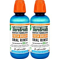 TheraBreath Gluten-Free Fresh Breath Oral Rinse, Icy Mint, 16 Ounce Bottle (Pack...