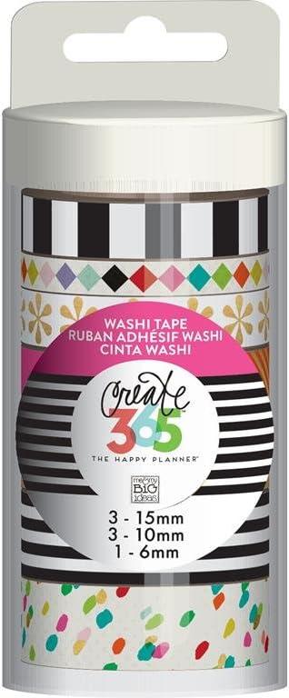 Me /& My Big Ideas de Crear 365/Washi/ /Cinta Adhesiva con Estampado