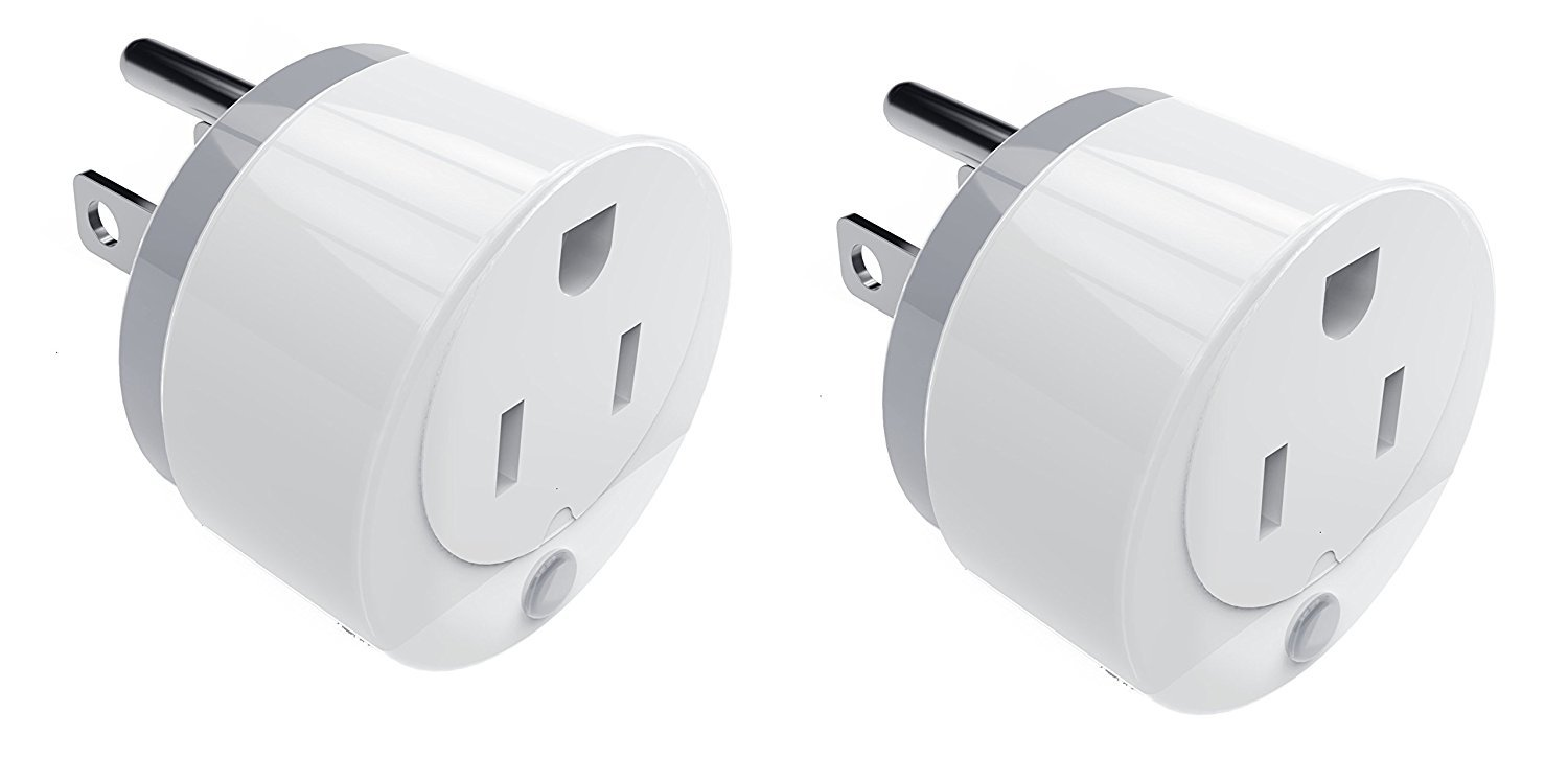 ASTROPANDA WIFI Smart Power Plug (Mini), Smart Home Power Control- Control your Devices from Anywhere, No Hub Required, Compatible with Alexa, Echo Dot & Google Home (power plug 2 pack)
