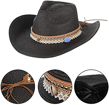 AOKIGN Sombrero Unisex Sombreros De Vaquera De Paja West ...