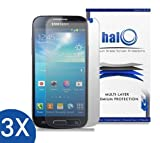 Halo Screen Protector Film Clear Matte (Anti-Glare) for Samsung Galaxy S4 Mini I9190 (3-Pack) - Lifetime Replacement Warranty