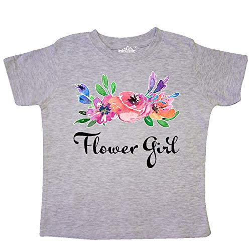 inktastic - Flower Girl with Bouquet Toddler T-Shirt 5/6 Heather Grey 331d1