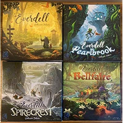 Everdell Collectors Bundle: Base Game, Pearlbrook, Spirecrest, and Bellfaire: Toys & Games [5Bkhe0907436]