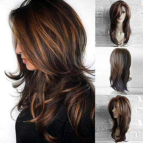 Peigen Fashion Short Sexy Wig Front Wavy Black Women Red Synthetic Wigs Rose Net -