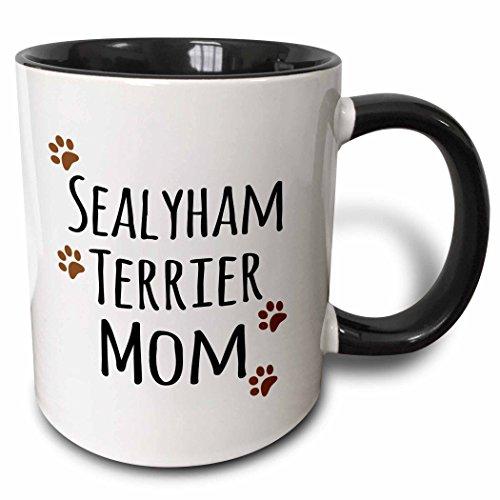 3dRose 154191_4 Sealyham Terrier Dog Mom Mug, 11 oz, Black