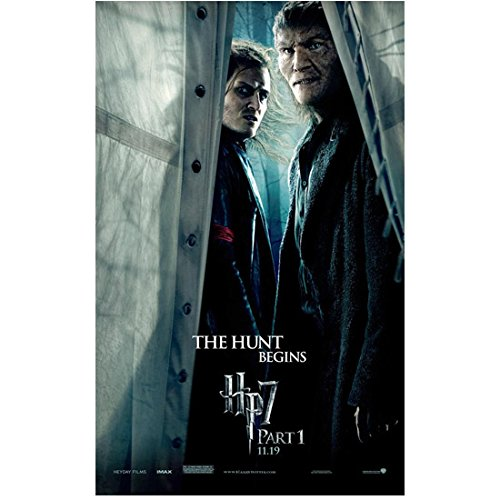 Harry About Deathly Hallows Part 1 Promo Scabior (Nick Moran) And Fenrir Greyback (Dave Legeno) At Window 8 x 10 Inch Photo