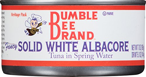 Bumble Bee Solid White Albacore Tuna in Water, White, 7 Ounce (Heritage Bumble Bee)