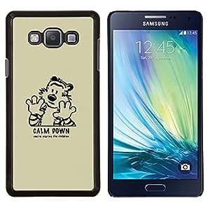 Qstar Arte & diseño plástico duro Fundas Cover Cubre Hard Case Cover para Samsung Galaxy A7 A7000 (Calma tigre de Down)