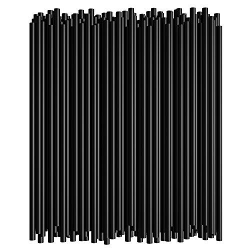 7.75 Inch Straight Drinking Straws (250 Straws) (7.75 Inch x 0.21 Inch) (Black)]()