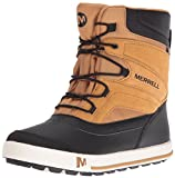 Merrell Snow Bank 2.0 Waterproof Snow Boot (Toddler/Little Kid/Big Kid), Wheat/Black, 4 M