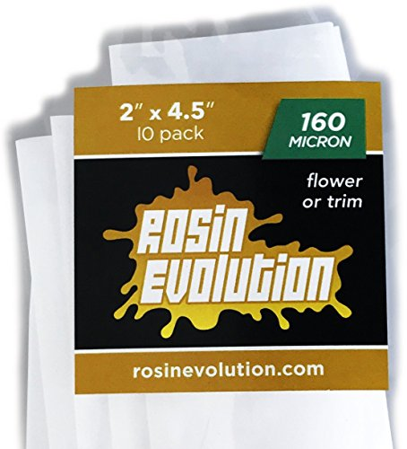 Rosin Evolution Press Bags - 160 micron screens (2'' x 4.5'') - 10 pack by Rosin Evolution