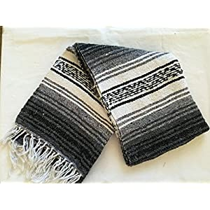 Well-Being-Matters 51vE4miCgqL._SS300_ MEXIMART's Authentic Mexican Falsa Blanket Hand Woven (Black)