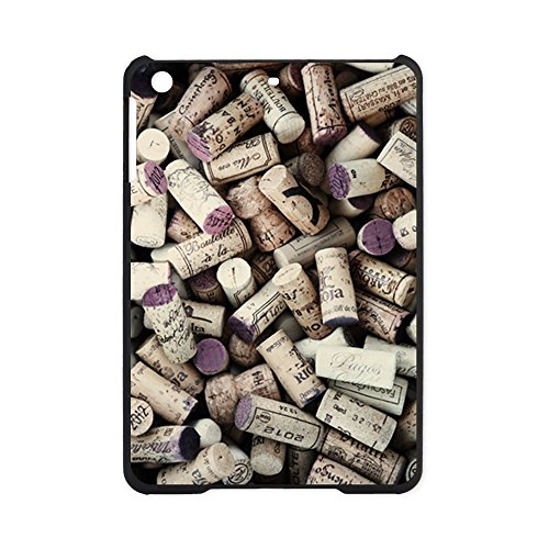iPad Mini Case Black I love Wine Corks
