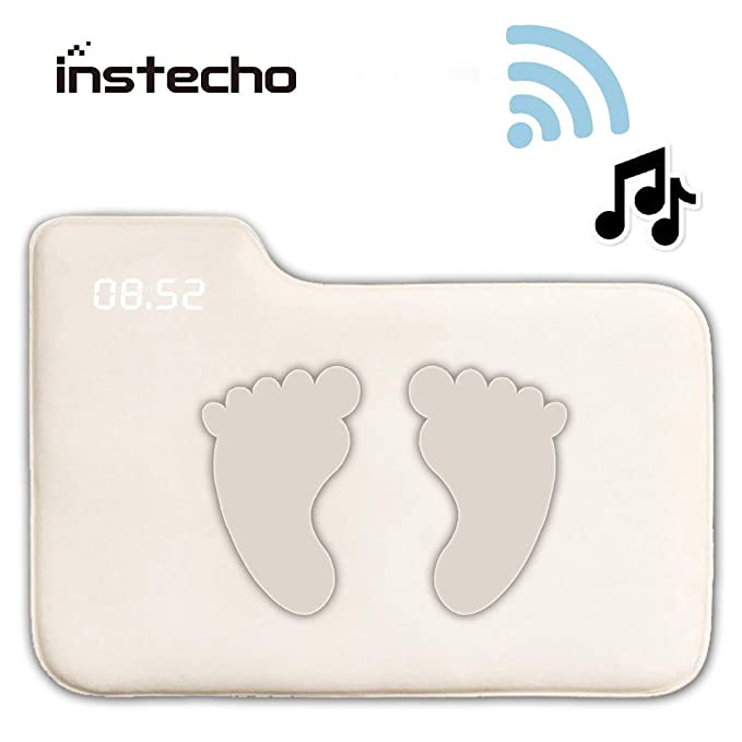 (Update) Alarm Clock for Heavy Sleepers,Instecho Rug Carpet Alarm Clock - Digital Display,Pressure Sensitive Alarm Clock with The Softest Touch for Modern Home, Kids, Teens, Girls and Guys