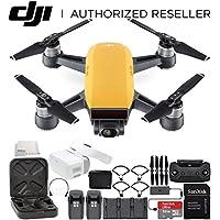 DJI Spark Portable Mini Drone Quadcopter Fly More Combo Virtual Reality VR FPV POV Experience Ultimate Bundle (Sunrise Yellow)