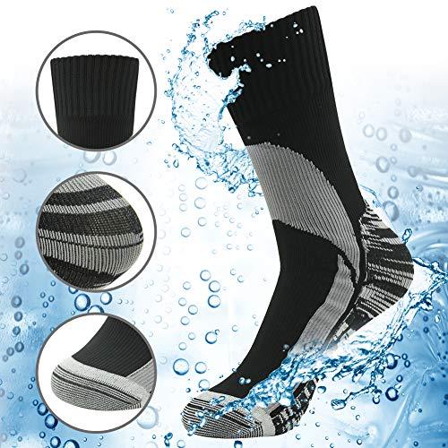 (Waterproof Hiking Socks, RANDY SUN Men's Breathable Cushioned Quarter Trekking Socks Size Small)