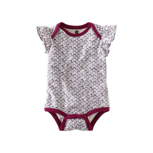 Tea Collection Baby Girls' Waves Batik Bodysuit
