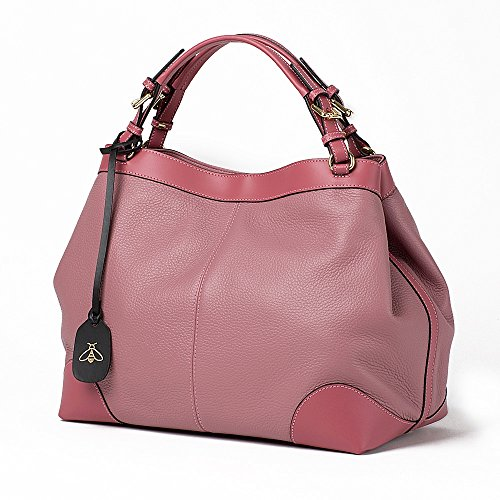 Color Mujer Para Honey Bolso Rosa De Piel Bag Vacuno Fnvw6qtz Oa0A0xn
